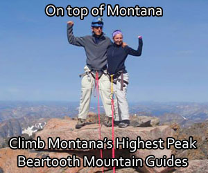 Beartooth Mountain Guides - The only locally owned-operated guiding and mountaineering instruction service offering year-round recreation in the Beartooth Range of Montana. Highest peaks in Montana.