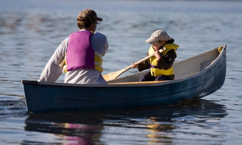 Canoe Canoeing Family Kids