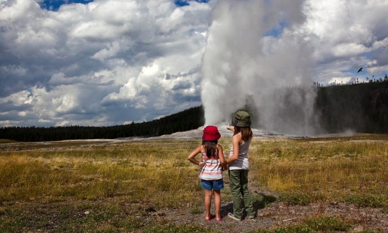 Kids Geyser Yellowstone