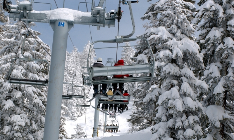 Skiing Chairlift