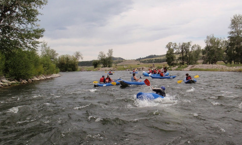 Inflatable Kayaks on Stillwater River in Montana