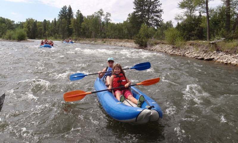Inflatable Kayaking near Red Lodge Montana